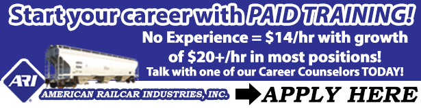 Start your career with paid training at American Railcar Industries - Apply Here