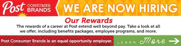 Post Consumer Brands Is Now Hiring - Click For More Information
