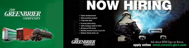 Start your career with paid training at The Greenbrier Company - Apply Here